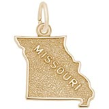 Gold Plated Missouri Charm by Rembrandt Charms
