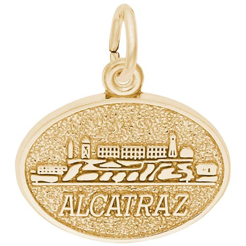 Gold Plated Alcatraz Island Charm by Rembrandt Charms