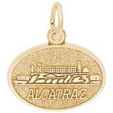 10K Gold Alcatraz Island Charm by Rembrandt Charms