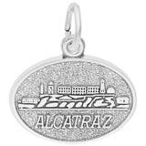 14K White Gold Alcatraz Island Charm by Rembrandt Charms