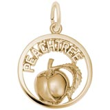 10K Gold Georgia Peachtree Charm by Rembrandt Charms