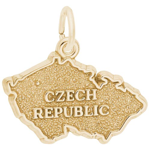 14K Gold Czech Republic Charm by Rembrandt Charms