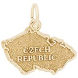 10K Gold Czech Republic Charm by Rembrandt Charms