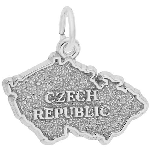 14K White Gold Czech Republic Charm by Rembrandt Charms