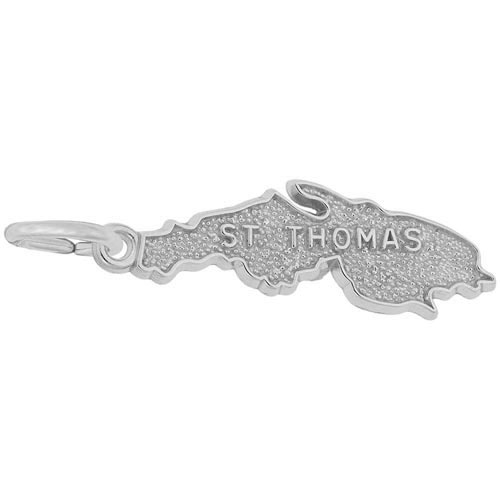 14K White Gold ST Thomas Island Charm by Rembrandt Charms