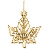 Gold Plate Vermont Maple leaf Charm by Rembrandt Charms