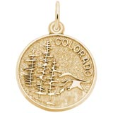 14K Gold Colorado Charm by Rembrandt Charms