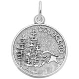 14K White Gold Colorado Charm by Rembrandt Charms
