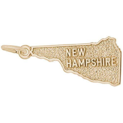Gold Plated New Hampshire Charm by Rembrandt Charms