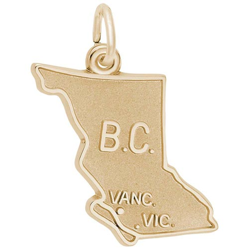14K Gold British Columbia Charm by Rembrandt Charms