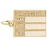 14K Gold Driver's License Charm by Rembrandt Charms