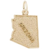 Gold Plated Arizona Charm by Rembrandt Charms