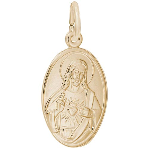 14K Gold Sacred Heart Charm by Rembrandt Charms