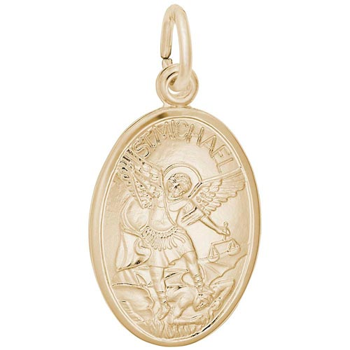14K Gold Saint Michael Charm by Rembrandt Charms