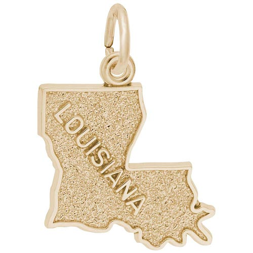 Gold Plated Louisiana Charm by Rembrandt Charms