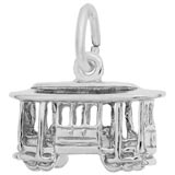 14K White Gold Cable Car Trolley Charm by Rembrandt Charms
