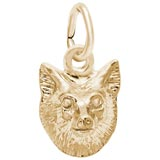 Gold Plate Fox Head Charm by Rembrandt Charms