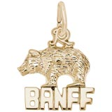 Gold Plate Banff Bear Charm by Rembrandt Charms