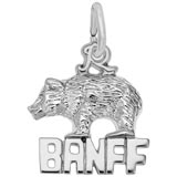 14K White Gold Banff Bear Charm by Rembrandt Charms