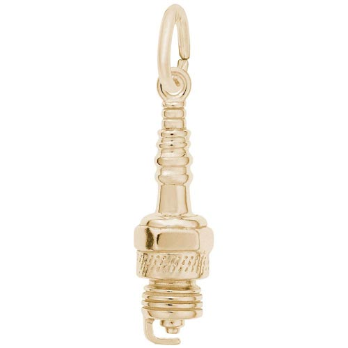 10K Gold Spark Plug Charm by Rembrandt Charms