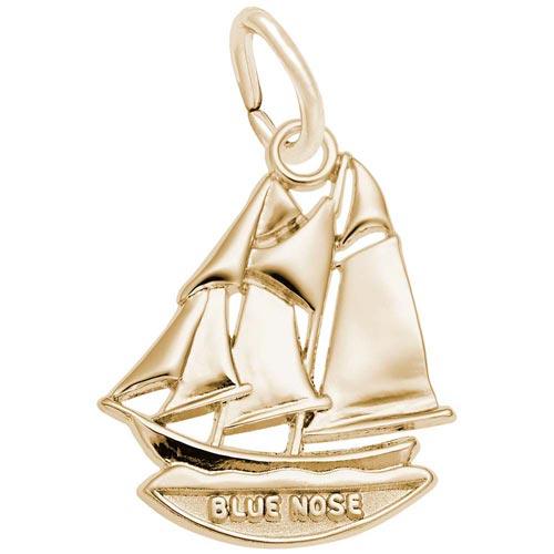 14K Gold Blue Nose Nova Scotia Charm by Rembrandt Charms