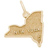 Gold Plated New York Map Charm by Rembrandt Charms