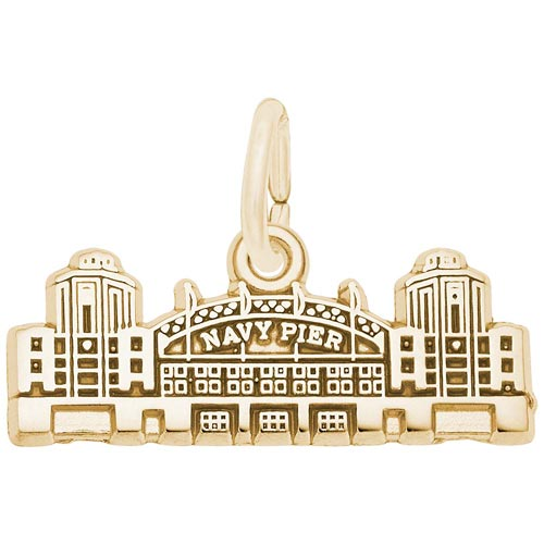 14K Gold Navy Pier Charm by Rembrandt Charms