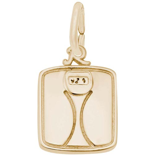 Gold Plate Scale Charm by Rembrandt Charms