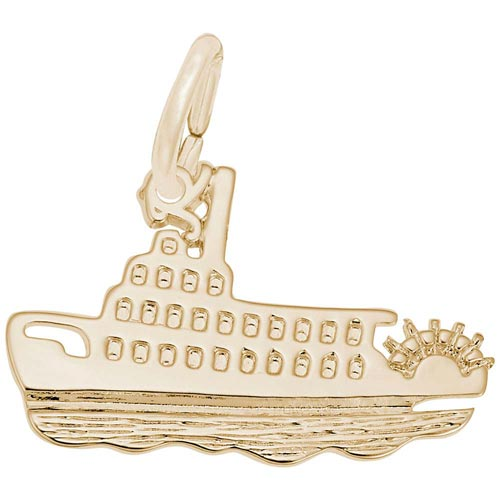Gold Plate Riverboat Charm by Rembrandt Charms