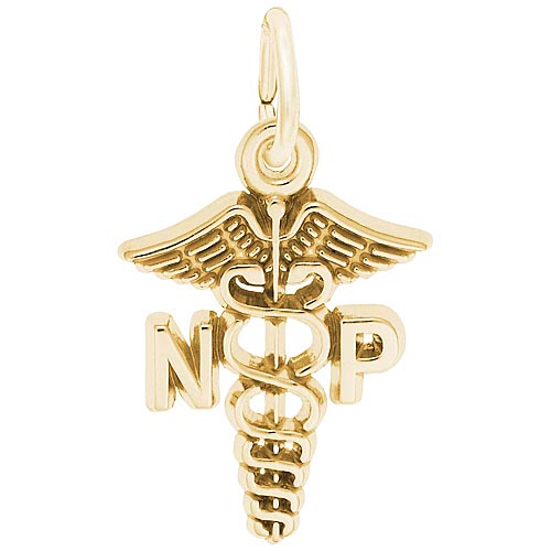 Gold Plated Nurse Practitioner Charm by Rembrandt Charms