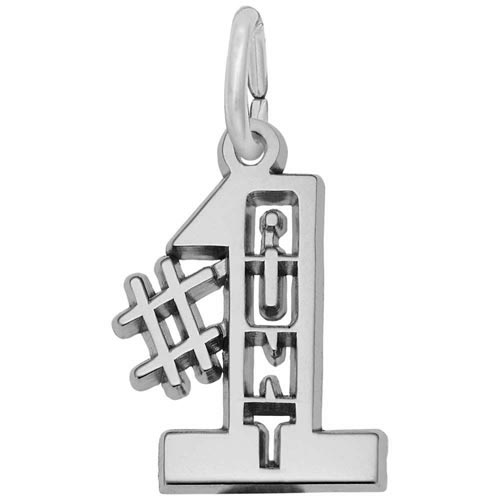 Sterling Silver Number One Aunt Charm by Rembrandt Charms