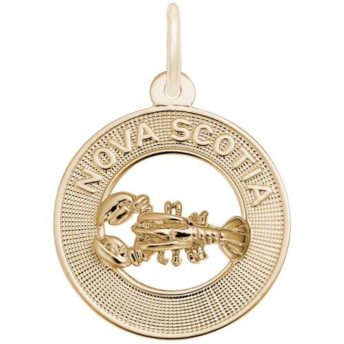 Gold Plated Nova Scotia Charm by Rembrandt Charms