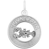 14K White Gold Nova Scotia Charm by Rembrandt Charms