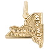 Gold Plated New York State Charm by Rembrandt Charms