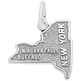 14K White Gold New York State Charm by Rembrandt Charms