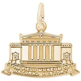10K Gold Field Museum Charm by Rembrandt Charms