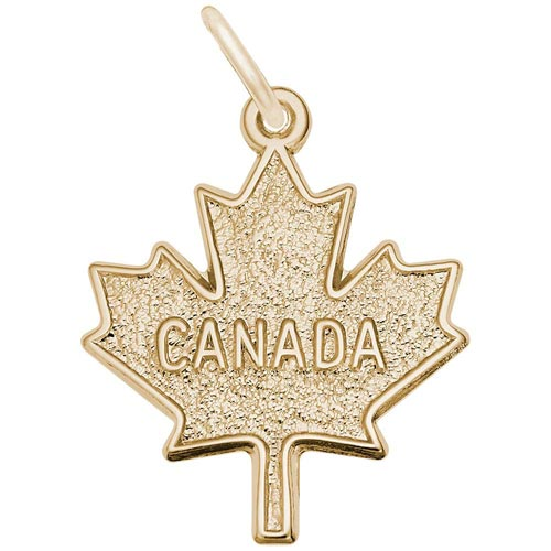 Gold Plated Canada Maple Leaf by Rembrandt Charms