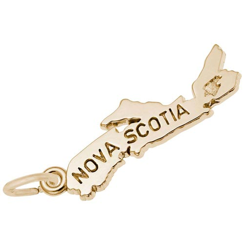 10K Gold Nova Scotia Map Charm by Rembrandt Charms