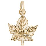 Gold Plate Montreal Maple Leaf Charm by Rembrandt Charms