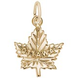 Gold Plate Ottawa Maple Leaf Charm by Rembrandt Charms