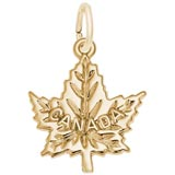 Gold Plate Canada Maple Leaf Charm by Rembrandt Charms