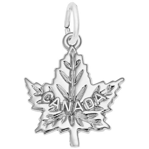 Sterling Silver Canada Maple Leaf Charm by Rembrandt Charms