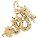 Gold Plate Serpent Dragon Charm by Rembrandt Charms