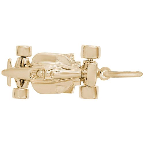 14K Gold Formula One Race Car Charm by Rembrandt Charms