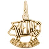 10K Gold Dieting Pig Charm by Rembrandt Charms