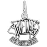 14K White Dieting Pig Charm by Rembrandt Charms