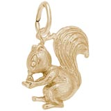 Gold Plate Squirrel Charm by Rembrandt Charms