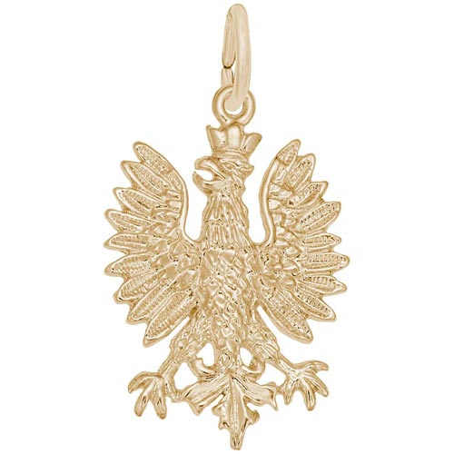 10k Gold Phoenix Bird Charm by Rembrandt Charms