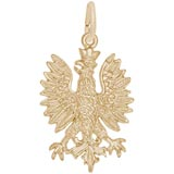 Gold Plated Phoenix Bird Charm by Rembrandt Charms