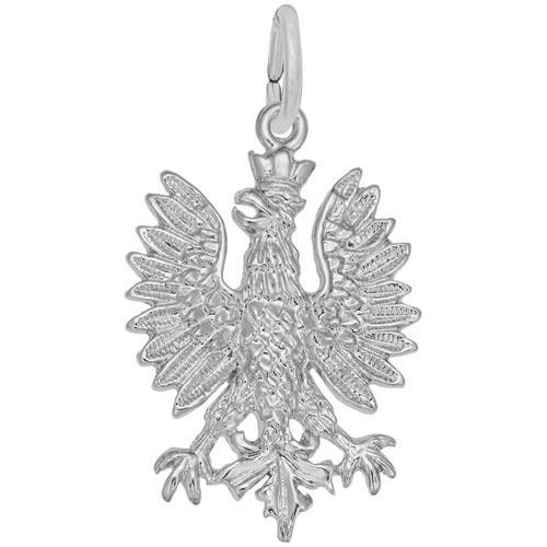 14k White Gold Phoenix Bird Charm by Rembrandt Charms